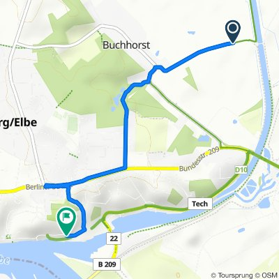 Easy ride in Lauenburg/Elbe