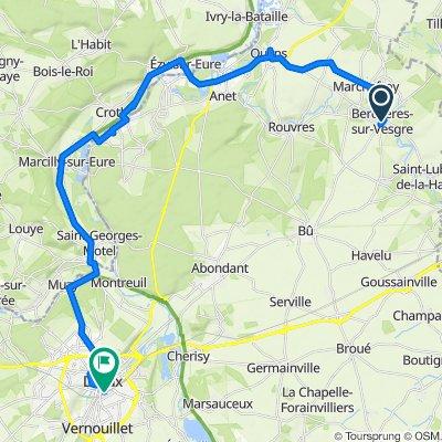 Itinéraire modéré en Berchères-sur-Vesgre