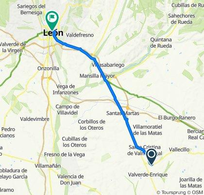 Calle Mayor, Valverde-Enrique to Calle de los Serranos, León