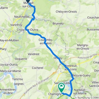 De 9 Rue du Jour, Mareuil-sur-Ourcq à 2 Rue de la Ferté-sous-Jouarre, Luzancy