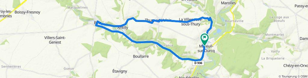 De 9 Rue du Jour, Mareuil-sur-Ourcq à 9 Rue du Jour, Mareuil-sur-Ourcq