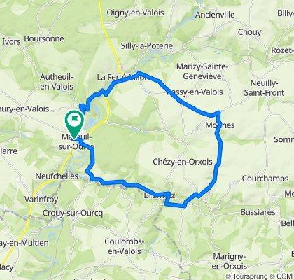 De 6 Rue du Jour, Mareuil-sur-Ourcq à 6 Rue du Jour, Mareuil-sur-Ourcq