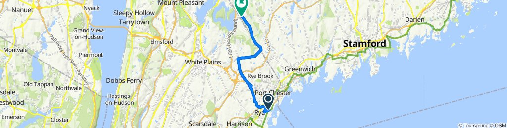 Moderate route in Rye