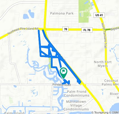 Moderate route in North Fort Myers