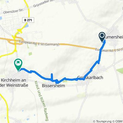 Großkarlbacher Straße 22, Laumersheim to Rückgasse 1E, Kirchheim