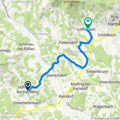 Hofkirchen bei Hartberg 48, Kaindorf nach Löffelbach 7, Löffelbach