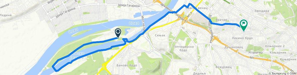 Moderate route in Belgrade