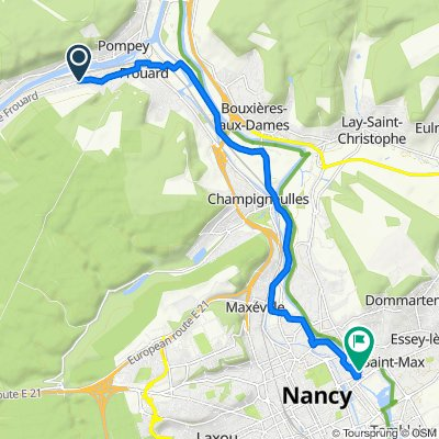 Relaxed route in Frouard