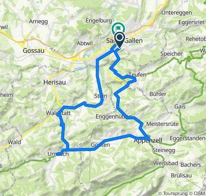 Route von Schneebergstrasse 37, St. Gallen