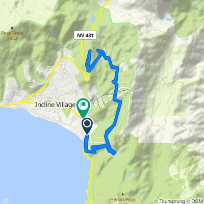 1200–1440 Tunnel Creek Rd, Incline Village to 1037 Tomahawk Trail, Incline Village