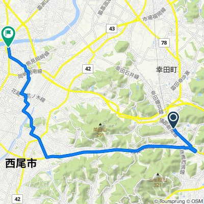 3-1, Fukozu Sasagida, Kota-Cho, Nukata-Gun to 40-1, Shindobacho Nakagiri, Nishio-Shi
