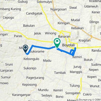 Unnamed Road, Kecamatan Musuk to Jalan Perintis Kemerdekaan, Kecamatan Boyolali