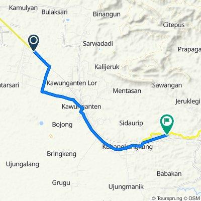 Jalan Raya Bantarsari 23 to Jalan Raya Kawunganten, Kecamatan Kawunganten