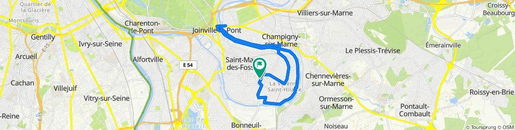 De Rue Edgar Quinet 31, Saint-Maur-des-Fossés à Avenue Victoria 11, Saint-Maur-des-Fossés