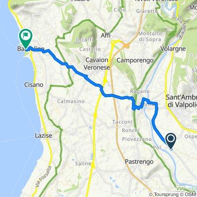 Da Via Pompea, Pescantina a Corso Umberto I 5–9, Bardolino