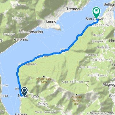 Da Via del Tivano 30, Nesso a Via Lodovico Loreti 13, Bellagio