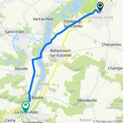 De 4 Rue des Peupliers, Mennecy à 6Bis Boulevard de Presles, La Ferté-Alais