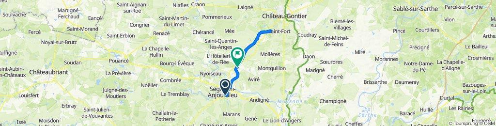 De 23 Rue du Flucas, Segré à D180, La Ferrière-de-Flée