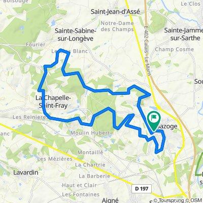 De Rue du Chêne 52, La Bazoge à Rue du Chêne 52, La Bazoge