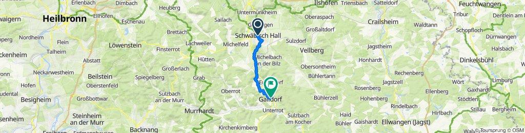Tag 3 Abschnitt Schwäbisch Hall nach Gaildorf