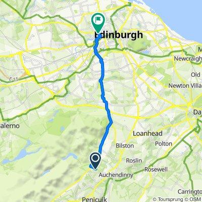 Route to 13 Buckingham Terrace, Edinburgh