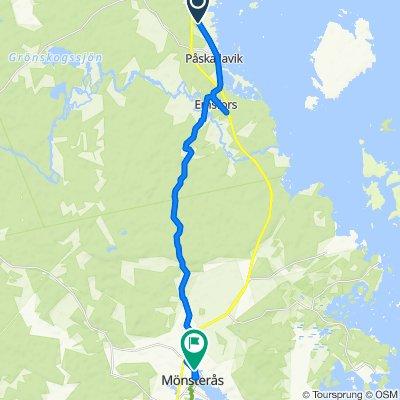 Kustvägen, Oskarshamn to Storgatan 75, Monsteras