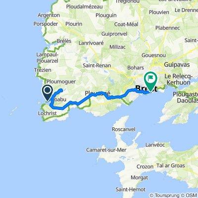 De Route de la Presqu'île Kermorvan, Le Conquet à Rue François Echardour 2, Brest