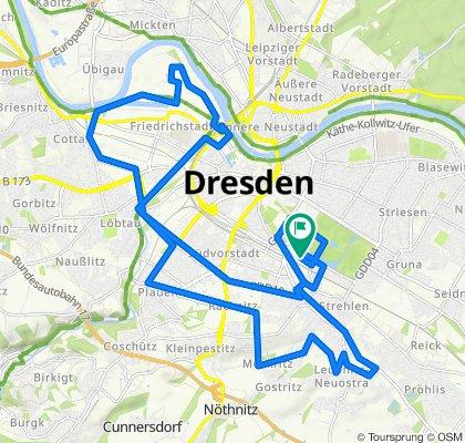 Runde durch Dresden