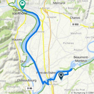 Chemin des Communaux, Chateauneuf-sur-Isère naar Place du 8 Mai 1945, Tain-l'Hermitage