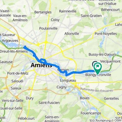 Itinéraire vers 2–8 Clos des Libellules, Blangy-Tronville