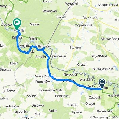Pratulin 19–23, Rokitno do Zamkowa, Mielnik