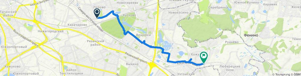 От улица Лазо 18 корпус 2, Москва до ул. Лухмановская, Москва