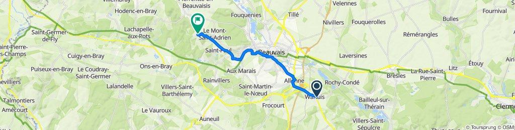 De Rue des Prairies 7, Warluis à Rue du Bois Verdier 2, Saint-Germain-la-Poterie