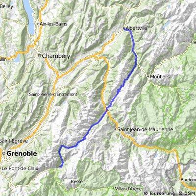 1. Tag: Albertville-Col de la Madeleine-Allemond