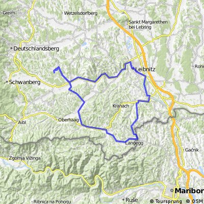 Weinstrasse von Oternitz, Rückweg über Ehrenhausen und Sulmtal