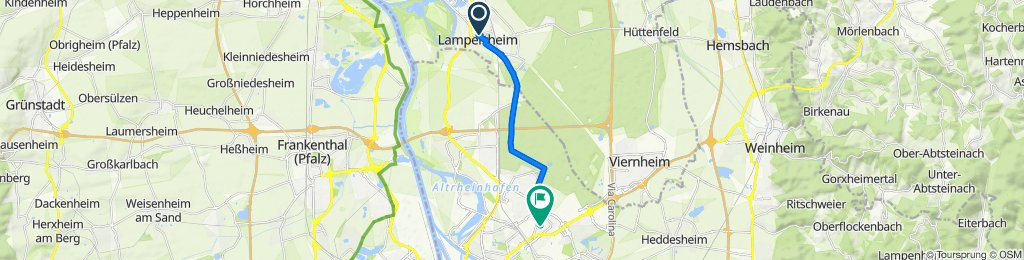 Relaxed route in Mannheim