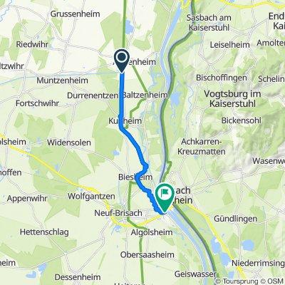 Route to D415, Vogelgrun