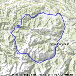Montgaillard - col du Port de Lers - col de Péguère