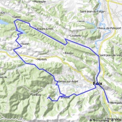 Montgaillard - col du Grillon - lac de Mondely