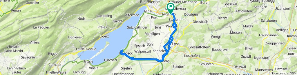 Aegerten, Aarberg, Hagneck retour..
