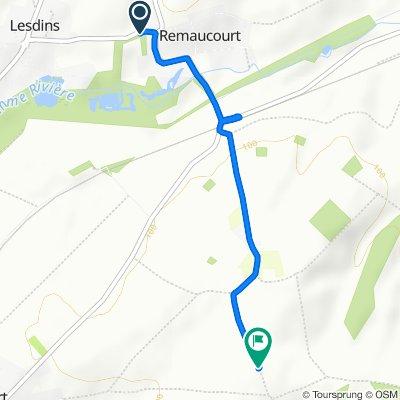 Route de Lesdins 4, Remaucourt nach Unnamed Road, Morcourt