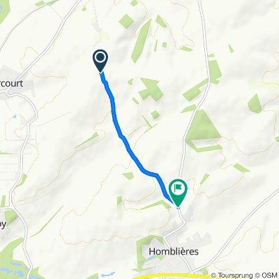 Unnamed Road, Morcourt nach Fos aux Chiens 6, Homblières