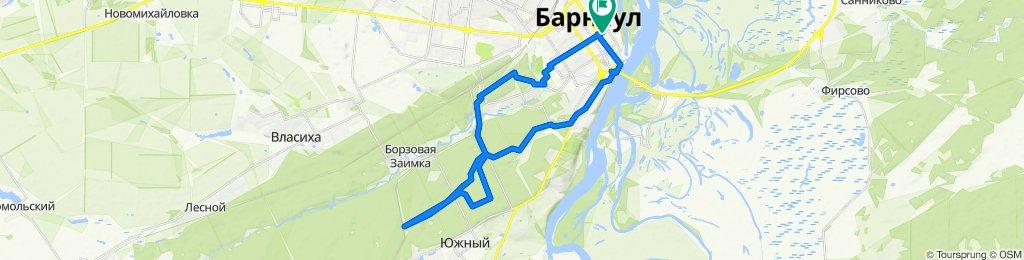 От Партизанская улица, 69А, Барнаул до Партизанская улица, 69А, Барнаул