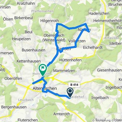 Mittelstraße 60a, Michelbach (Westerwald) nach Heinestraße 3, Altenkirchen (Westerwald)