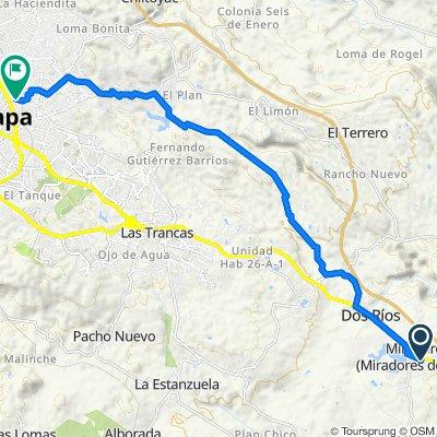 De Calle Lauro Retureta López 12–16, Emiliano Zapata a Privada de Ferrocarril Interoceánico 12, Xalapa-Enríquez