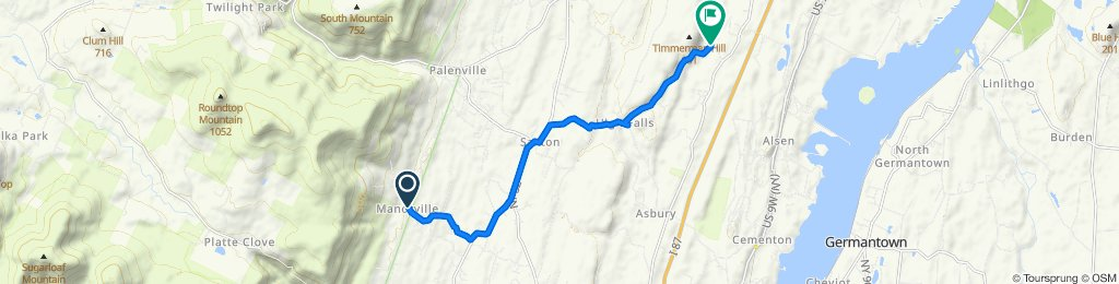 Moderate route in Catskill