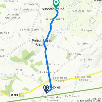 Itinéraire vers Rue de la Salette 12, Vindefontaine