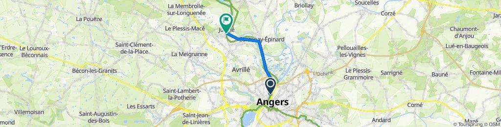 De CHU - Hopital, Angers à Juigne, Montreuil-Juigné