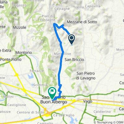 Da Via Alta 48B, Lavagno a Via Radisi 9, San Martino Buon Albergo