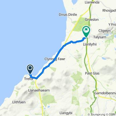 Route to Gwyndre, Clynnog Road, Caernarfon